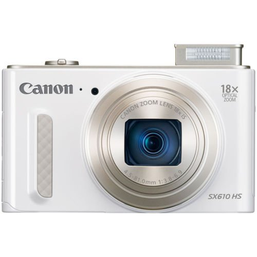 "Canon PowerShot SX610 HS Digital Camera, 20.2MP, 18x Zoom, 3.0"" LCD White"
