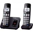 Panasonic KX-TGE232B Black Expand Digital Cordless Answering System 2 Handsets