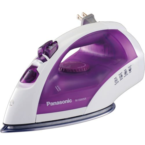 Panasonic/NI-E660SR White/Violet Iron 1200 Watt Micro-Spray Mist, SS Non Stick