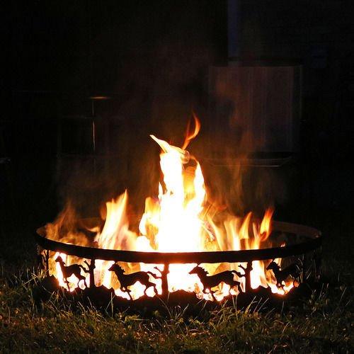 "Sunnydaze 36"" Running Horse Campfire Ring"