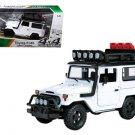 "Toyota FJ40 Land Cruiser White ""4x4 Overlanders"" Series 1/24 Diecast Model Car"