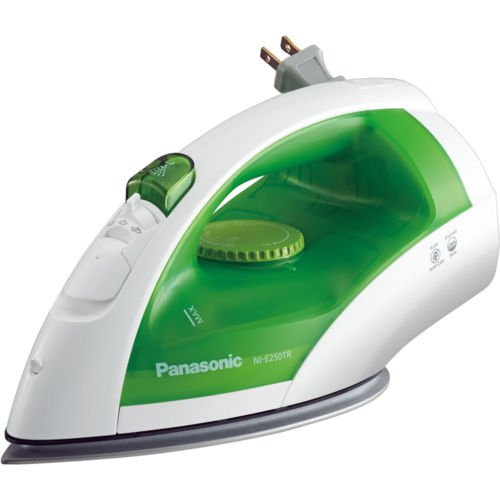 Panasonic NI-E250TR White/Green 1200W Micro-Spray Mist, Titanium Coat Non Stick