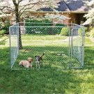 Fence Master Outside Dog Kennel 10 x 10 x 6 Chain Link Easy Set Up
