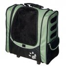 Pet Gear I-GO2 Escort Pet Carrier Sage Roller Bag Car Seat Backpack