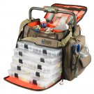 Wild River FRONTIER Lighted Bar Handle Tackle Bag 5 PT3700 Trays