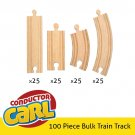 Conductor Carl 100 Piece Bulk Train Track Pieces Pack