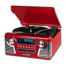 Innovative Technology Bluetooth Stereo Turntable with CD Red