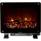 Warm House Black Dallas Free-standing Electric Fireplace 2 Heat Lvls-1400W/700W