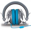 iSound HM-260 Headphones With Mic Gray & Blue