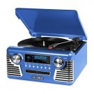 Innovative Technology Bluetooth Stereo Turntable with CD Blue