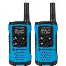 Motorola T100 Neon Blue Alkaline 2 Pack 16 Mile Range Blue Radios