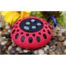 Cobra Digital Bluetooth Speaker With Clip Red Splash Proof 33 Feet