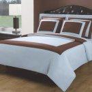 5PC Cotton Duvet Cover Set 1 PLY Light. Blue Chocolate