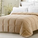 Super Oversized Down Alternative Comforter Fits Pillow Top Khaki Queen