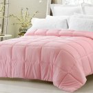 Super Oversized Down Alternative Comforter Fits Pillow Top Pink Queen