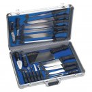 Slitzer 22pc Professional Chef's Cutlery Set in Case Limited Lifetime Warranty
