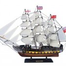 "Wooden HMS Surprise Master and Commander Model Ship 24"" L x 4"" W x 17"" H"