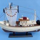 "Wooden Sushi Bar Model Fishing Boat 18"" L x 5"" W x 14"" H"