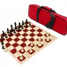 Silicone HeavyTournament Chess Set Combo Red Includes Carrying Case