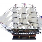 """Wooden USS Constitution Tall Model Ship 32"""" Long x 7"""" Wide x 24"""" High 1:82 Scale"""