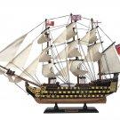 "Wooden HMS Victory Limited Tall Model Ship 24"" L x 4"" W x 17"" H"