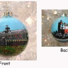 San Francisco Golden Gate Bridge & Lighthouse Christmas Ball Ornament