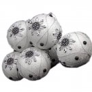 "6 December Diamonds White Snowflake Shatterproof Christmas Ball Ornaments 3.75"""