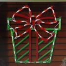"16"" Lighted Red and Green Present Christmas Window Silhouette Decoration"