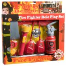 Fire Fighter Play Kit Axe Fire Extinguisher Radio Whistle Wristwatch