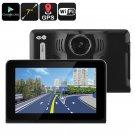 Car DVR Dash Cam - Anti-Radar Detector, GPS Navigation, Android OS,Quad-Core CPU