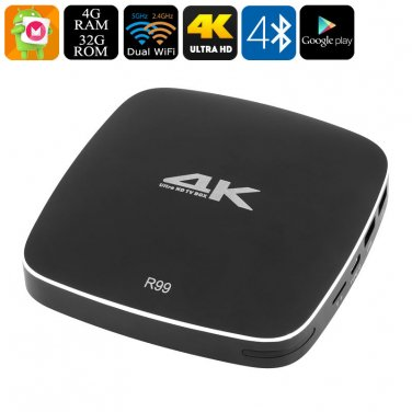 Android TV Box R99 - 4K Resolution, Hexa-Core CPU, 4GB RAM, Android 6.0