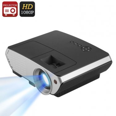 2000 Lumen LED Projector - 1500:1 Contrast Ratio, 50 to 140 Inch Projection