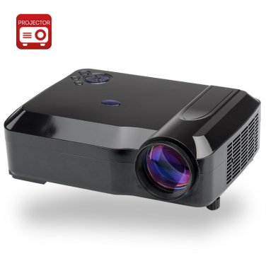 3800 Lumens LED Projector - 5.8 Inch LCD Panel, 2000:1 Contrast Ratio
