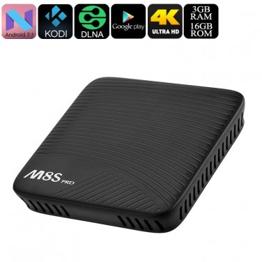 4K Android TV Box Mecool M8S Pro - Android 7.1, Octa-Core CPU, 3GB DDR4 RAM