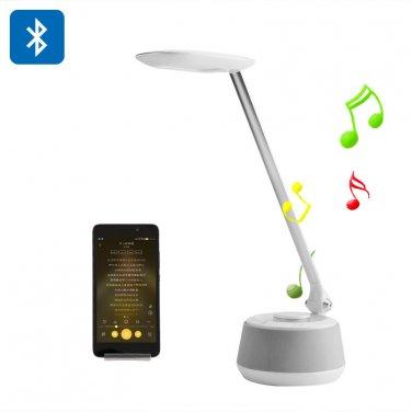 Bluetooth Speaker Desk Light - 3 Lighting Modes, 200 Lumen, Bluetooth Speaker