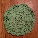 Sage Round Cotton Dish Cloth - On Hand