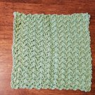 Cotton Sage Green Dish Cloth Wash Cloth - On Hand