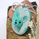 French Bulldog in Blue Dog Tag Pendant