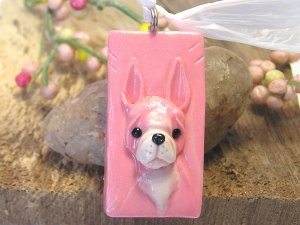 Boston Terrier in Pink Pendant