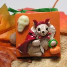 Pomeranian The Little Devil Polymer Clay Dog Tile