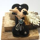 Fawn Pug Polymer Clay Dog Wall Holder
