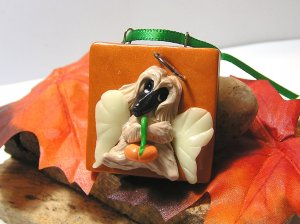 Afghan Hound Little Angel Polymer Clay Dog Tile