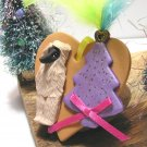 Afghan Hound Polymer Clay Dog Heart Christmas Ornament - Sale
