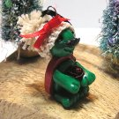 Tommy the Turtle Polymer Clay Christmas Ornament