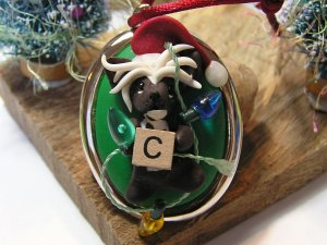 Chinese Crested Polymer Clay Dog Ornament - NanjoDogz