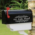 "Personalized SET OF 2 vinyl mailbox decals! 4"" X 10"" MAI-00002"