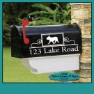 French Bulldog, Frenchie, Set (2) personalized vinyl mailbox decals!  MAI-00007