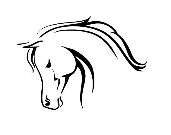 "Horse head Vinyl Decal, Car Truck Window Sticker! 4"" x 6"" Choice of Colors!"