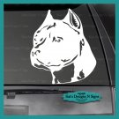 "PIT BULL Decal - Car/Truck/Window Dog Sticker!  6"" X 5.25"" Choice of Colors"