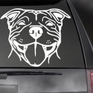 "Bully Decal - Staffy Pit Bull Car/Truck/Window Dog Sticker!  7"" Choice of Colors"